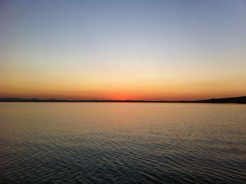 Il tramonto sul Lago Trasimeno